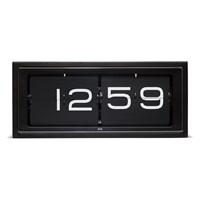 Leff Amsterdam Brick 24H Wall Desk Clock Black