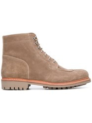 Grenson Grover Lace Up Boots Brown