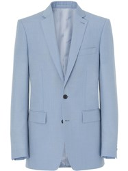 Burberry Classic Fit Tailored Jacket Blue