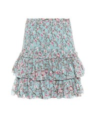 Etoile Isabel Marant Naomi Printed Cotton Skirt Blue