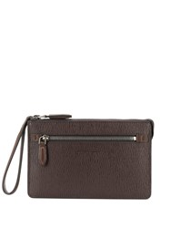 Salvatore Ferragamo Zipped Pouch Brown