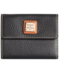 Dooney And Bourke Pebble Small Flap Wallet Black