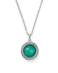 Ippolita Sterling Silver Stella Lollipop Pendant Necklace In Turquoise Doublet With Diamonds 16 Turquoise Silver
