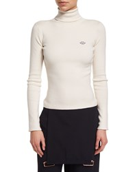See By Chloe Ribbed Turtleneck Sweater Cloud White Women's