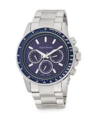 English Laundry Stainless Steel Chronograph Watch Silver Navy