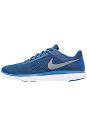 Nike Performance Flex 2016 Run Competition Running Shoes Coastal Blue Metallic Cool Grey Star Blue Hyper Cobalt Cool Grey