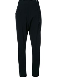 Rundholz Drop Crotch Slim Fit Trousers Black
