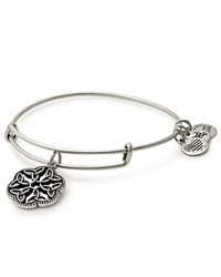 Alex And Ani Endless Knot Expandable Wire Bangle Silver
