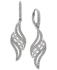 Danori Crystal And Pave Swirl Drop Earrings Clear