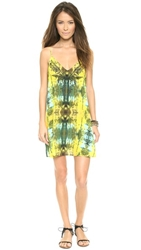 Twelfth St. By Cynthia Vincent Embroidered Mini Dress Tribal Trees