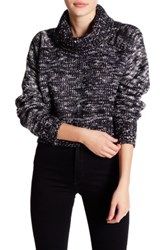 Romeo And Juliet Couture Marled Turtleneck Sweater Blue