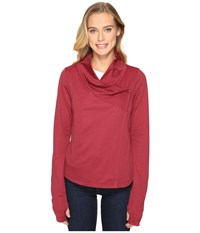 Arc'teryx Yonge Long Sleeve Wrap Scarlet Women's Clothing Red