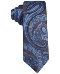 Tasso Elba Men's Ravenna Paisley Classic Tie Only At Macy's Brown