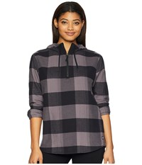 The North Face Stayside Pullover Shirt Rabbit Grey Large Bowden Plaid Long Sleeve Pullover Multi