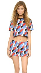 Etre Cecile Disco Royale Print Crop Top Multi