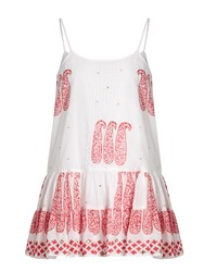 Juliet Dunn Paisley Print Cotton Cami Dress White Multi