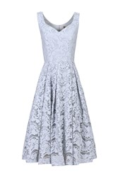 Jolie Moi Sweetheart Neck 50S Lace Dress Grey