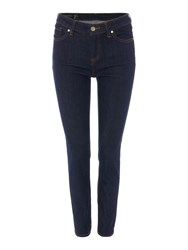 Armani Exchange High Rise Super Skinny Jeans In Indigo Denim Denim Indigo