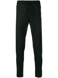 Tomas Maier Felted Wool Sweatpant Black