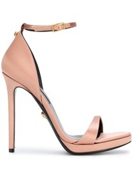 Versace Open Toe Pumps Pink And Purple