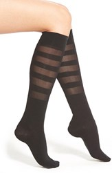 Women's Kensie Shadow Stripe Knee High Socks