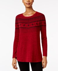 Styleandco. Style Co. Fair Isle Swing Top Only At Macy's Red