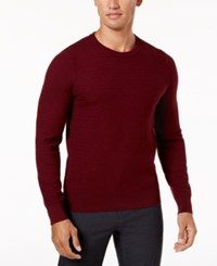 Ryan Seacrest Distinction Men's Modern Fit Herringbone Sweater Created For Macy's Purple