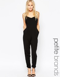 New Look Petite Strappy Jumpsuit Black