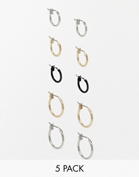 Asos Hoop Earring Pack In Various Sizes
