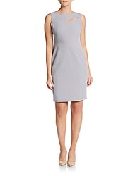 Anne Klein Cutout Sheath Dress Greystone