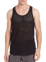 2Xist Open Mesh Tank Black