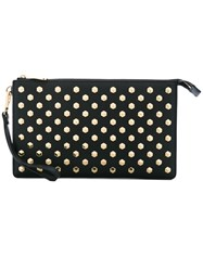 Michael Michael Kors Studded Clutch Women Leather One Size Black