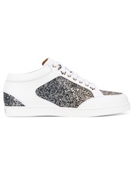 Jimmy Choo 'Miami' Glittered Sneakers Women Calf Leather Leather Pvc Rubber 36 White