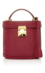 Mark Cross Benchley Saffiano Leather Bag Red
