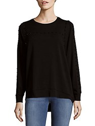 Saks Fifth Avenue Dolman Stud Top Black