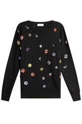 Faith Connexion Embellished Cotton Pullover Black