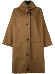 Dusan Hooded Oversized Coat Brown