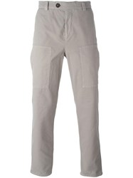 Brunello Cucinelli Patch Pocket Trousers Nude Neutrals