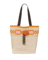 Ale By Alessandra Nomad Beach Tote Bag Beige