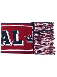 Dolce And Gabbana Football Scarf Red