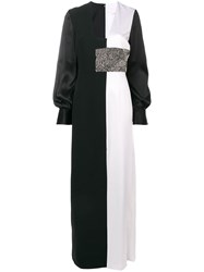 Genny Empire Line Long Dress Black