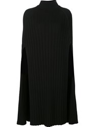 By. Bonnie Young Long Ribbed Cape Black