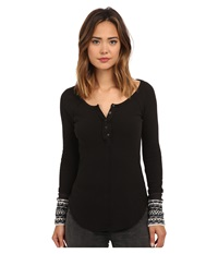 Free People Newbie Thermal Ski Lodge Cuff Black Women's Clothing