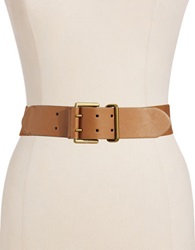 Lauren Ralph Lauren Wide Stretch Belt Brown