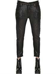 Diesel Black Gold Police Waxed Stretch Cotton Denim Jeans
