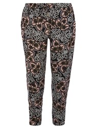 Dorothy Perkins Paisley Printed Joggers With Channel Waist Detail Black