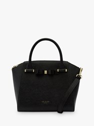 Ted Baker Jaelynn Bow Leather Tote Bag Black