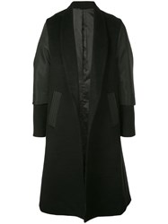 D.Gnak Panelled Single Breasted Coat Black