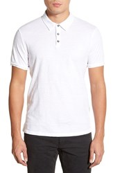 Men's Velvet By Graham And Spencer 'Randall' Slub Knit Polo White