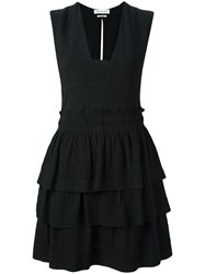 Etoile Isabel Marant Kali Flounce Dress Black